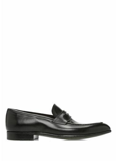 Green George %100 Deri Loafer Ayakkabı Siyah